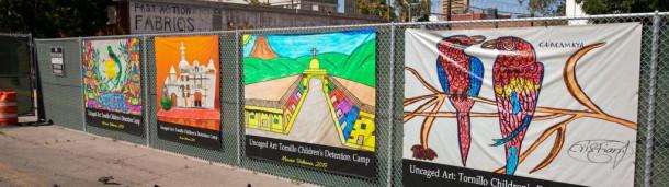 一号站注册登录:被拘留的移民儿童把鸟画成自由和家园的象征